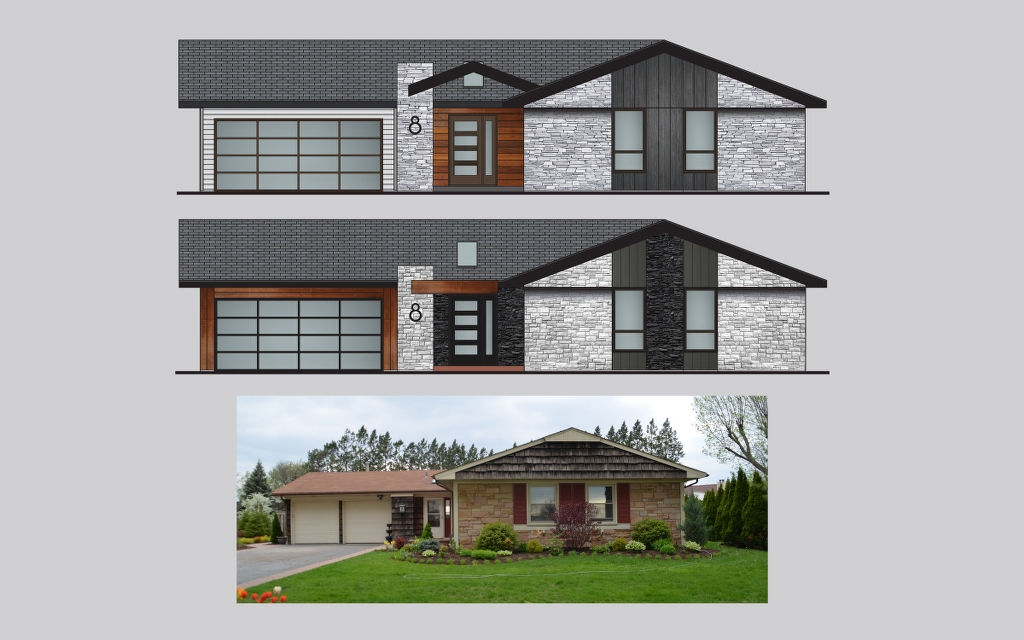 Chicago suburbs facade redesign