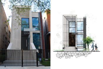 New construction. West Town. Ukrainian Village. Chicago architect. KC Architects