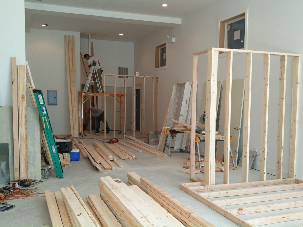 Framing new walls – KC Architects, Inc. Chicago architect